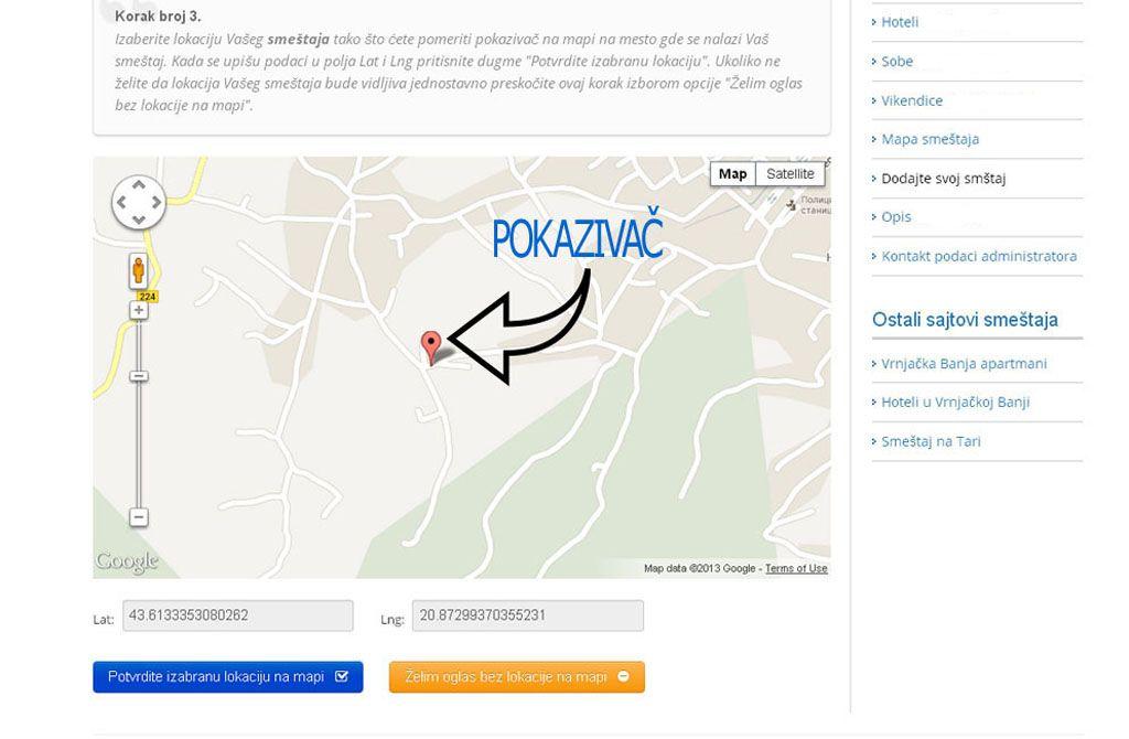 Josanicka Banja  - postavljanje oglasa - uputstvo slika 3.